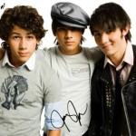 Autógrafo dos Jonas Brothers