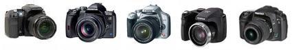 Marcas e modelos de câmera digital semi-profissional e profissional.
